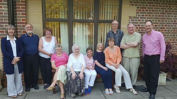 The committee outside the Stanborough Centre