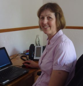 Tracey at work