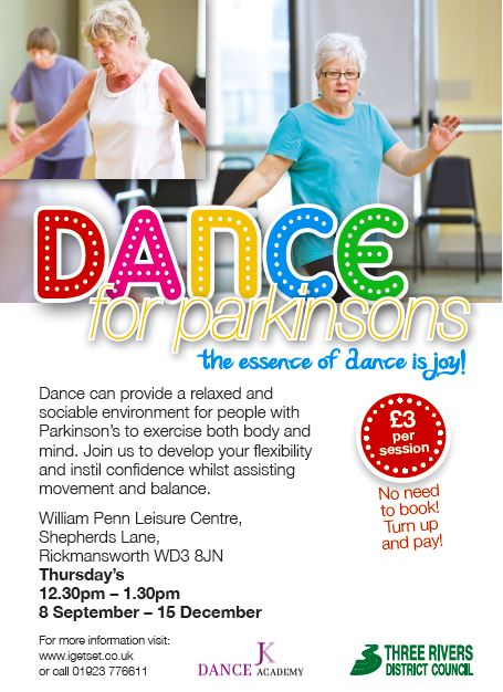 Flyer Dance For Parkinson's