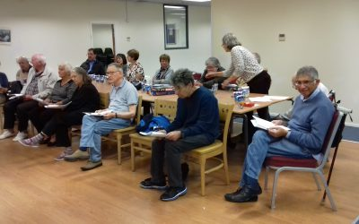 Great fun singing some old favourites at the Watford Support Group
